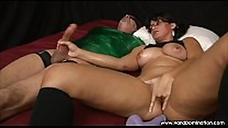 Spanish white white babes has many orgasms giving femdom han...