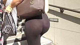 Candid gazoo - see-through leggings dark strap