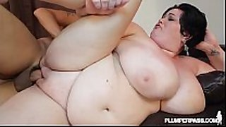 Huge tit milf bbw is oiled and fucked by pool