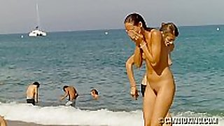Nudist caught at the beach!